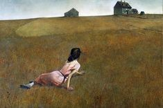 Learn about Andrew Wyeth s famous 1948 painting Christina s World on view at the Museum of Modern Art in New York # Andrew Wyeth Paintings, Andrew Wyeth Art, Nc Wyeth, Create Canvas, Museum Of Modern Art, American Artists, Art History, Watercolor Art, Illustration Art