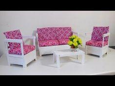 Como Fazer Sofá Rústico com Palitos para Barbie e Outras Bonecas - YouTube