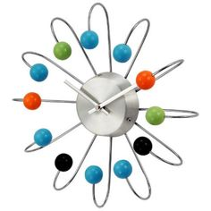 Kirch Implosion Wood Ball 13 Inch Wall Clock