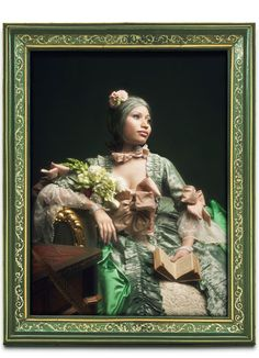 Rococo Portrait of Nicki Minaj as Jeanne Antointette Poisson Marquise de Pompadour. Artwork by Francesco Vezzoli  Styled by Edward Enninful  November 2011