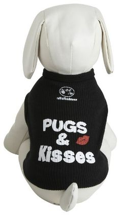 Ruff Ruff and Meow Dog Tank Top Pugs  Kisses Black Large ** Want additional info? Click on the image.