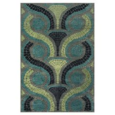 Colin Blue/Yellow Area Rug
