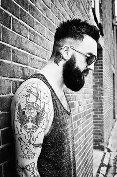 Mens ink and beard #tattoo #beard #kysa