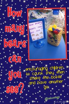Encouraging the children to count and to teach them amounts of objects can change.