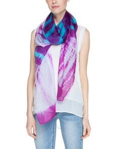 La Fiorentina Purple & Blue Tie-Dye Silk Scarf is on Rue. Shop it now.
