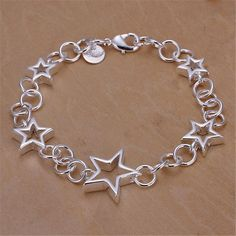 Silver plated  beautiful stars bracelet