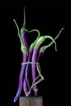 Asian eggplants - wonderful flavor and texture...