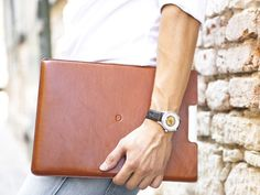 #Leather #MacBook Air 13″ #Sleeve by Danny P.