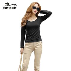 New Arrival Full Sleeve T Shirt Women Casual Solid Top Tees O-Neck Brand Clothing Tshirt Slim Fitness T-shirt Female Fashion Top