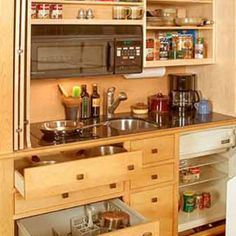 custom mini kitchens - Google Search