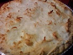 """Old Fashioned Coconut Cream Pie!                 I guess my second favorite meringue pie after chocolate has to be coconut.  It's an old southern classic dessert and I think people seem to think it's hard to make, but actually it's not with the right recipe and tips for the meringue.  Here is what you will need:     1 9"""" pie shell     Pie Filling  1 cup sugar  3 egg yolks  1/4 cup cornstarch  2 cups milk  1 Tbs. butter  1 tsp. vanilla  1  1/2 cups coconut     Meringue  3 egg whites  1 tsp…"""