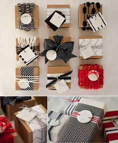 Different ways to wrap favors