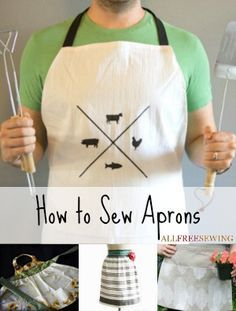 How to Sew Aprons: 31 Free Patterns for Aprons - take some time to explore these free sewing tutorials in time for your summer BBQs!
