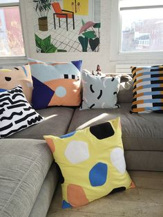 Throw pillows from Dusen Dusen, click through to shop the whole collection of boldly patterned home goods.