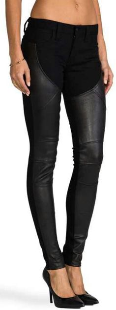 Frankie B. Jeans Pandora Leather Stretch Leggings