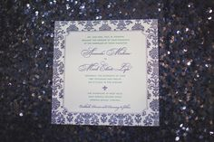 Modern Elegant Emerald and Navy Wedding Invitation // Planned by Antonia Christianson Events, photographed by Trivium Studio, invitation by RSVP