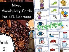 EYL Vocabulary Cards Pack 3 (EYL/ELL/ESL/EFL.EYFS/KS1)