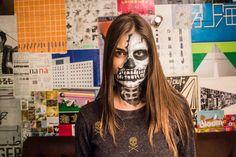#gabrielafranca , #maiscultura , #tvcultura , #makeup , #caveira