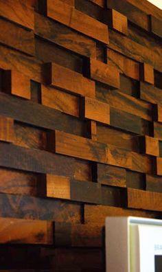 painel para parede com tacos de madeira - Pesquisa Google
