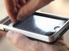Swipe: iPhone4/4s/5 Case w/ Integrated Touch Screen Cleaning by Joe Adams, via Kickstarter.