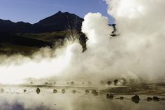 With nearly 80 active geysers, El Tatio, in the Andes, is the largest geyser site in the southern hemisphere.