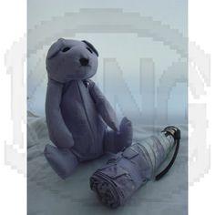Sun protection umbrella 05 bear-purple