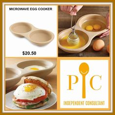 The Pampered Chef egg cooker is great for making the perfect egg in the microwave. Also works awesome for pancakes, mac & cheese and extra large Whoopee Pies! Pampered Chef Egg Cooker, Pampered Chef Stoneware, Pampered Chef Party, Pampered Chef Recipes, Pampered Chef Products, Chef Images, Perfect Eggs, Cooker Recipes, Food To Make