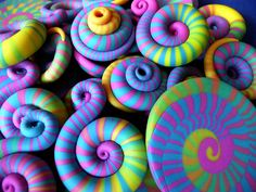 Candy Colored Spirals by ketztx4me, via Flickr
