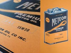 Meteor Oil can print by Greg Cuellar
