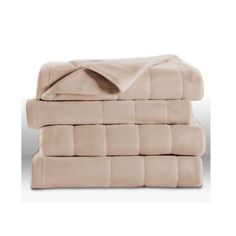 Amazon.com - Sunbeam Royal Dreams Quilted Fleece Heated Electric Blanket Dusty Blue