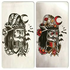 Mini Tattoos, Black Tattoos, Mike Giant, Vlad The Impaler, Tattoo Ideas, Tattoo Designs, Not My Circus, Devil Tattoo, Traditional Tattoo Flash