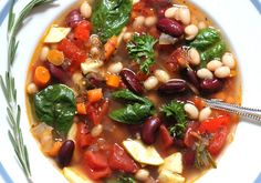 Tuscan Vegetable Bean Soup - simply fresh dinners