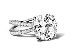 David Yurman engagement ring with signature twist, cross over band. Stunning!