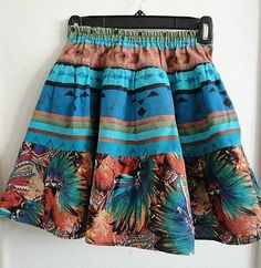 Size 6/6X Girls ~ *Southwestern/Indian Design 3-Tiered Skirt! Nice!