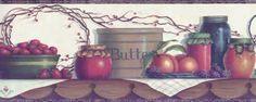Pitcher Kitchen Shelf Wallpaper Border $10 for 15 ft