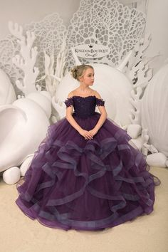 Purple Flower Girl Dress – Birthday Wedding party Bridesmaid Holiday Purple Lace Flower Girl Dress – Famous Last Words Pagent Dresses For Kids, Girls Pageant Dresses, Gowns For Girls, Dresses Kids Girl, Princess Dresses For Girls, Party Dresses, Green Flower Girl Dresses, Purple Flower Girls, Purple Lace