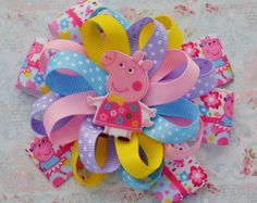 This Listing is for One Hair Bow Paw Shopkins Style! This bow will bring a great mood for its owner and other people. The Bow: -5-5,5 Inches (approx.) - 3 layers -Heat sealed -Alligator clip, scrunchy. French barrette  f your little angel loves to play dress up, she will love these adorable stacked bows! These clip-in bows come in a variety of designs and girly colours, and feature kids favourite Disney Princesses and cartoon characters. All bows are handmade by me from Petersham ribbon…
