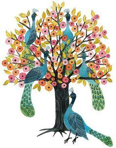 Peacock Tree by Geninne