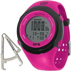 Soleus - GPS FIT Watch with BodyFat Caliper - Fuchsia Black >>> See this great product.