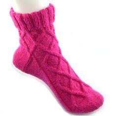 Socke mit Rautemuster
