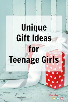 Unique Gift Ideas for Teenage Girls, plus more great gift lists for kids, tweens, teens and adults.