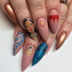 Funky Nails, Cute Nails, Pretty Nails, Disney Nail Designs, Cute Acrylic Nail Designs, Disney Acrylic Nails, Best Acrylic Nails, Disney Inspired Nails, Disneyland Nails