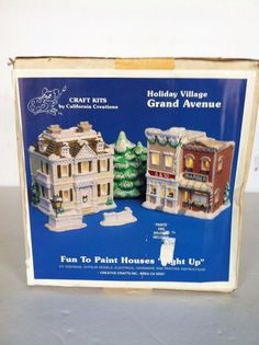 Unpainted Holiday Village | Christmas Crafts | Pinterest | Craft