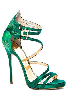 #shoes #green #heels #gorgeous #pretty