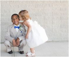 Adorable ring bearer and flower girl attire!