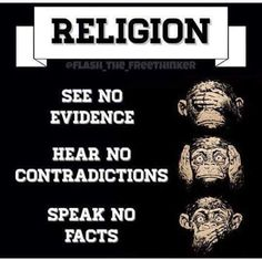 """Also known as Cognitive Dissonance when facts challenge your """"faith""""..."""