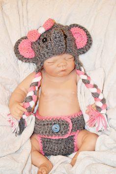 ea5191e0a3b teal elephant outfit baby elephant outfit crochet by kaylashelle Newborn  Elephant
