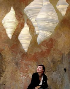 The Lucinda pendant light by Paris-based designer Elise Fouin, resembles a Dr. Seuss-like tornado made of polystyrene. She transforms, unwinds, adjusts, wraps, polishes and varnishes a material, until an object is born. No two shapes are ever the same. elisefouin.com  Concrete cool