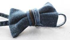 repurposed denim....bow