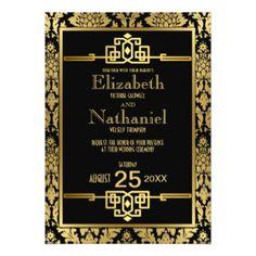 Art Deco wedding invitations: deposit to begin. $100.00, via Etsy ...